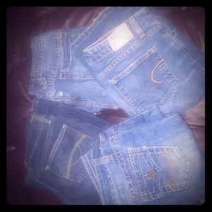 4 pair of EUC  name brand jeans all size 3/4